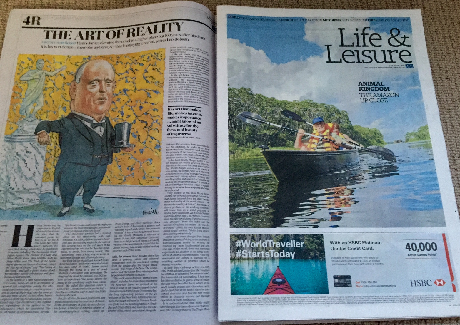 AFR Weekend Coverage 12-13 March 2016